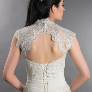 Bridal Lace Bolero Ivory Size Medium